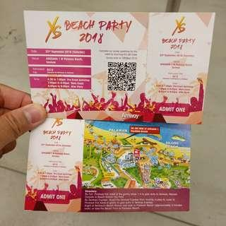 XS sentosa beach party tickets by amway