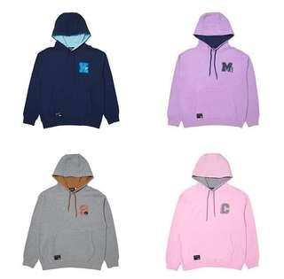 [Quick PO] BT21 Lettered Hoodie