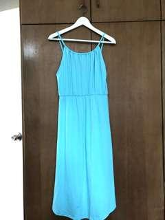 Tiffany green summer beach dress