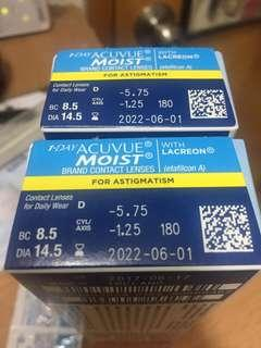 1 Day Acuvue Moist (Astigmatism )散光Cons