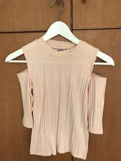 Monki shoulder off pink summer  top  XXS size