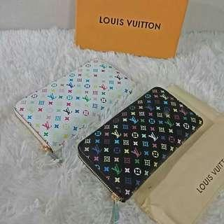 2 Authentic Quality Multicolor Zippy Wallets for 1500