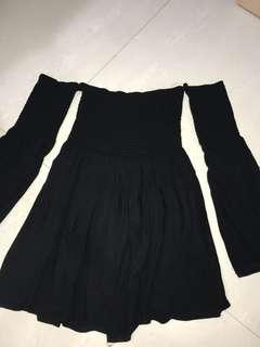 F21 bell sleeves dress