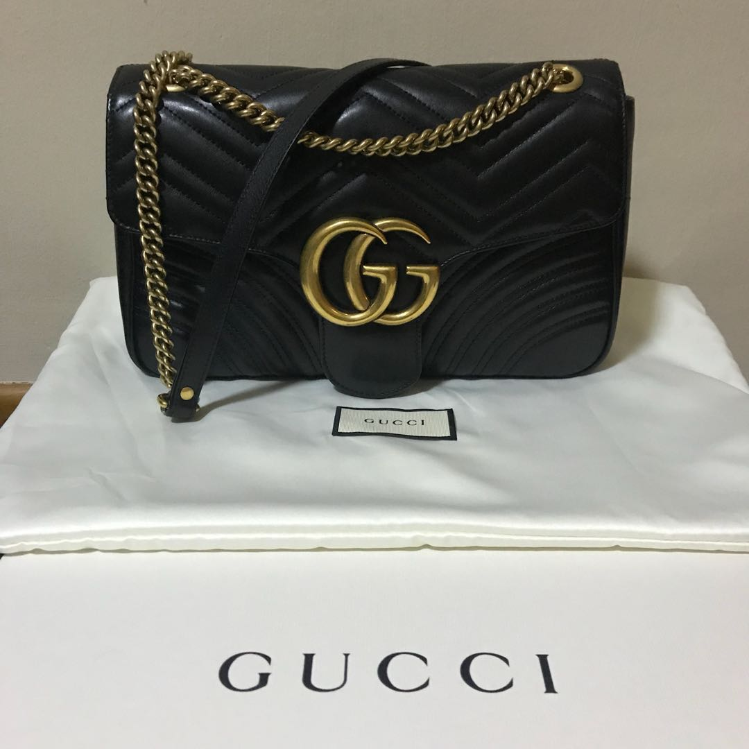 4323f27a2fb Authentic Gucci Marmont Medium Bag