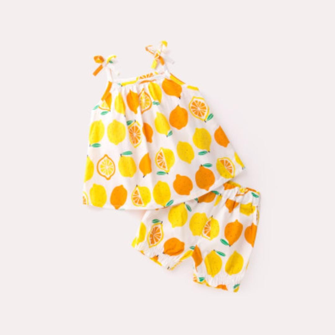 6bab86708e07 Baby Clothes Set - Orange Tie String Sleeveless Set  PO    Blue set ...