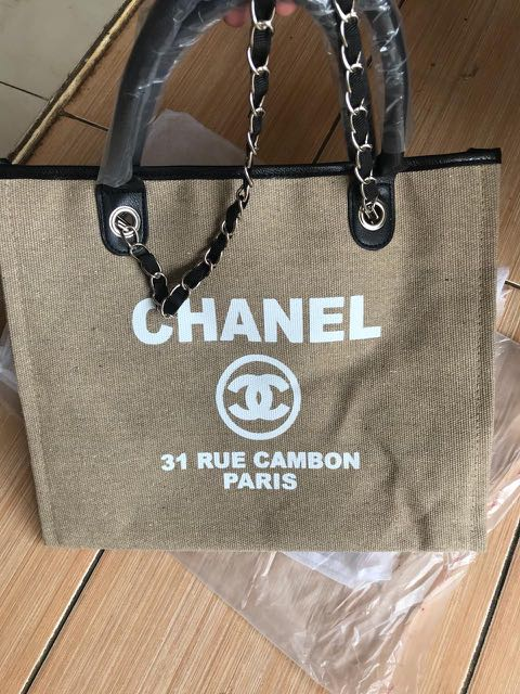 3c8e6321570f3c Chanel rue cambon beiger auth vip gift, Women's Fashion, Women's Bags &  Wallets on Carousell