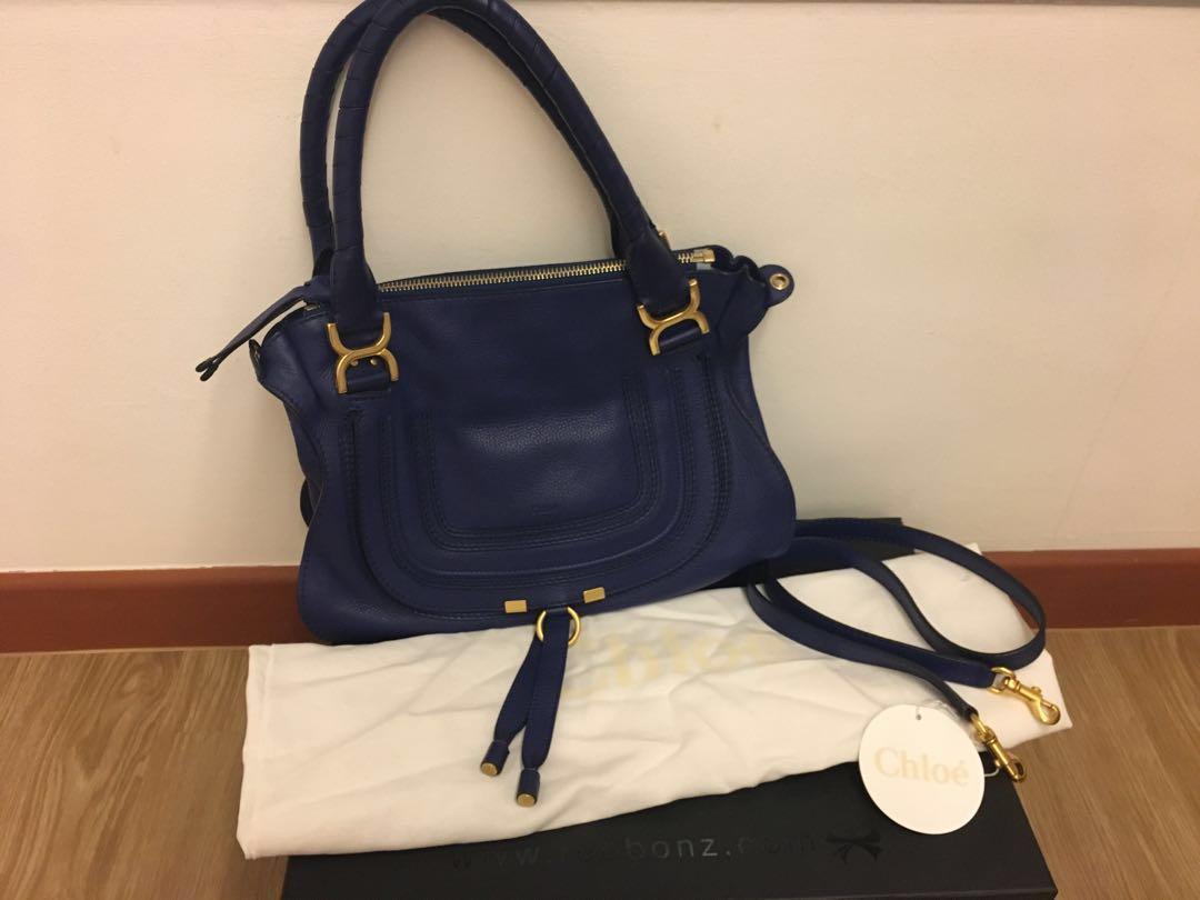 d232096229da Chloe Marcie Medium Royal Blue (Sea Water) Bag