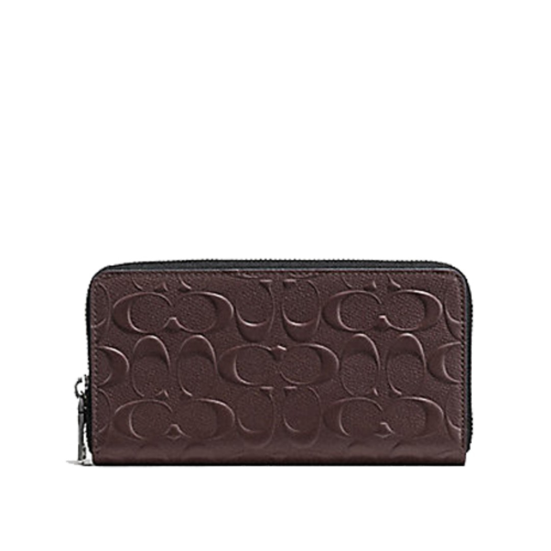 9f14d949235e Coach Accordion Wallet In Signature Crossgrain Leather (F58113) With ...