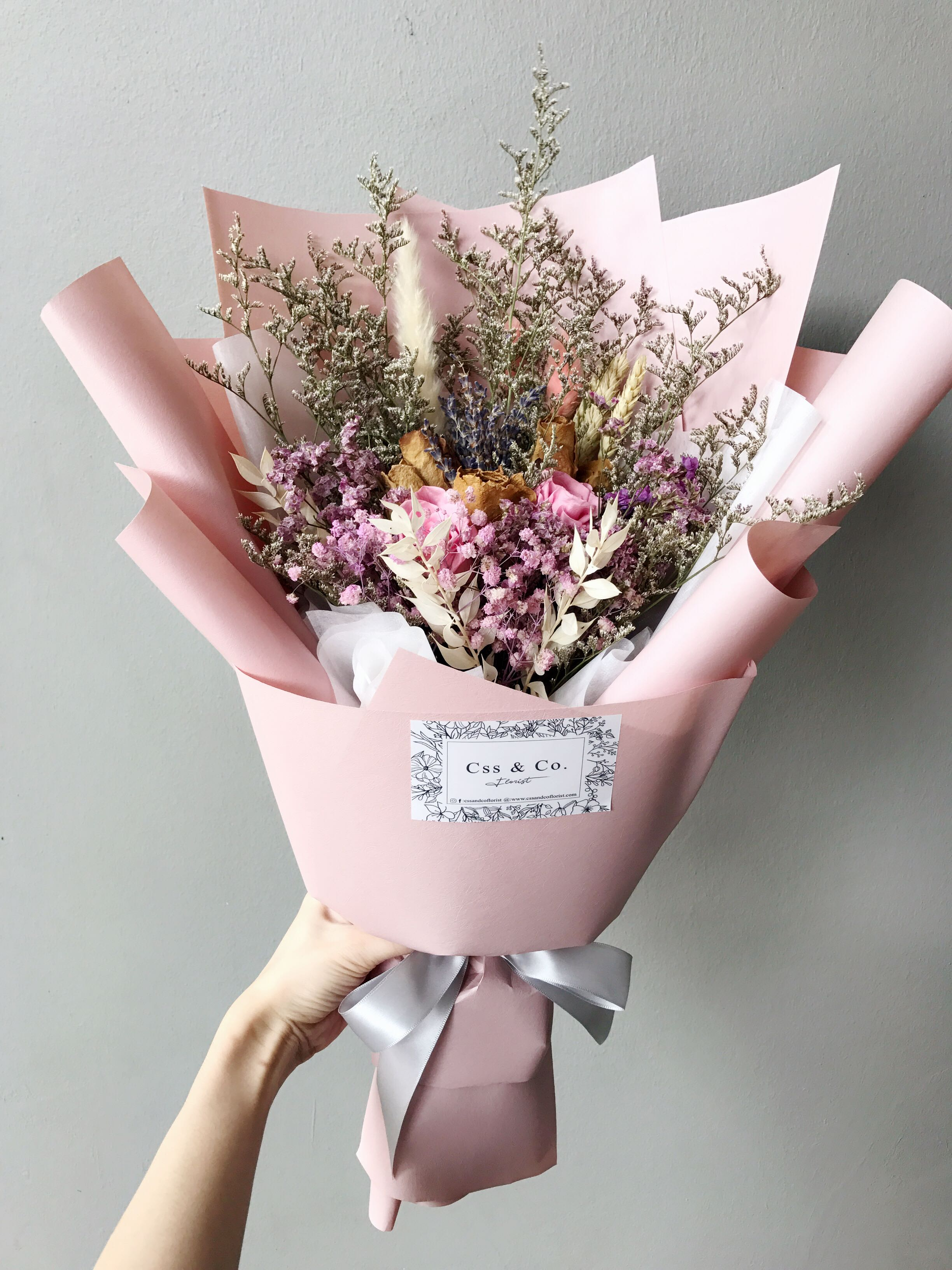 Dried Flower Bouquet Preserved Flower Bouquet Gardening Flowers