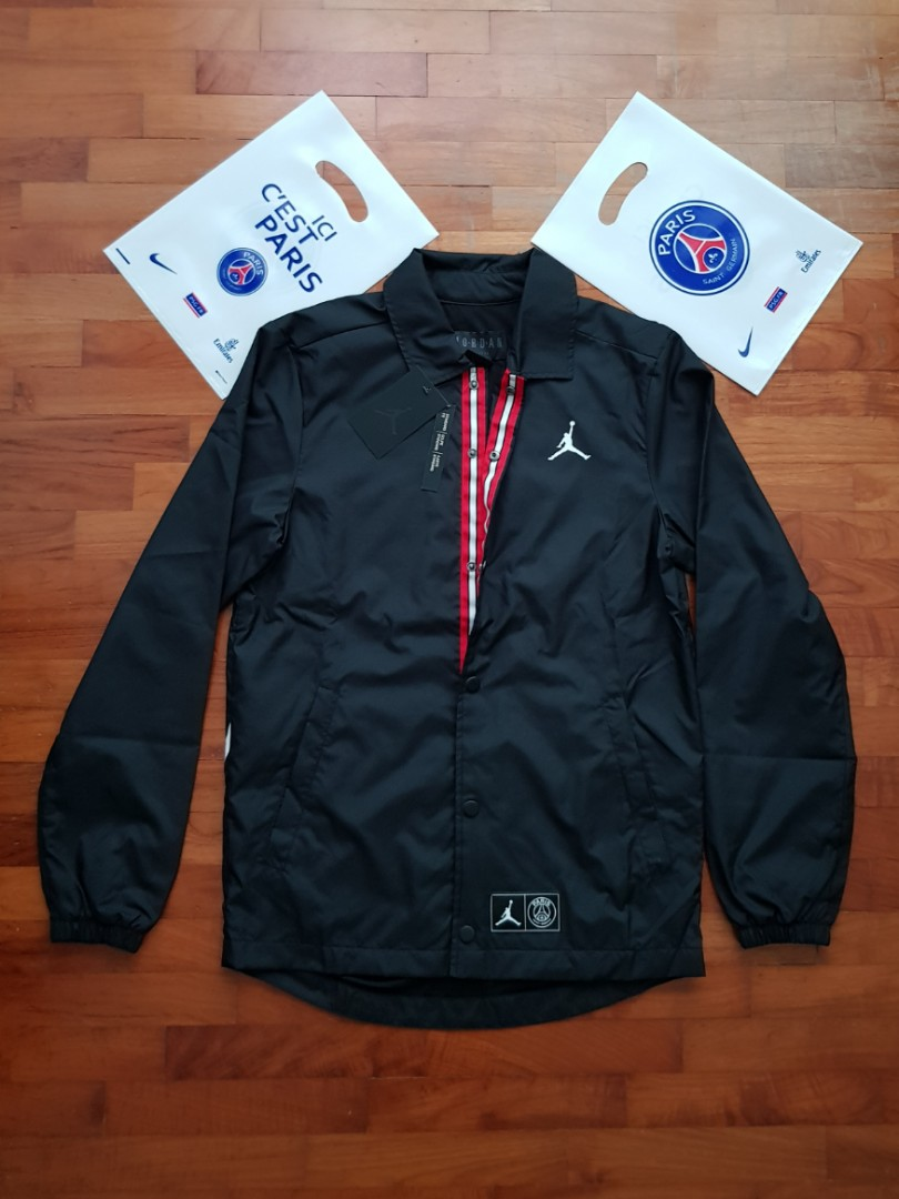 eec753bc191 Jordan x PSG Collab Coach Jacket, Sports, Sports Apparel on Carousell