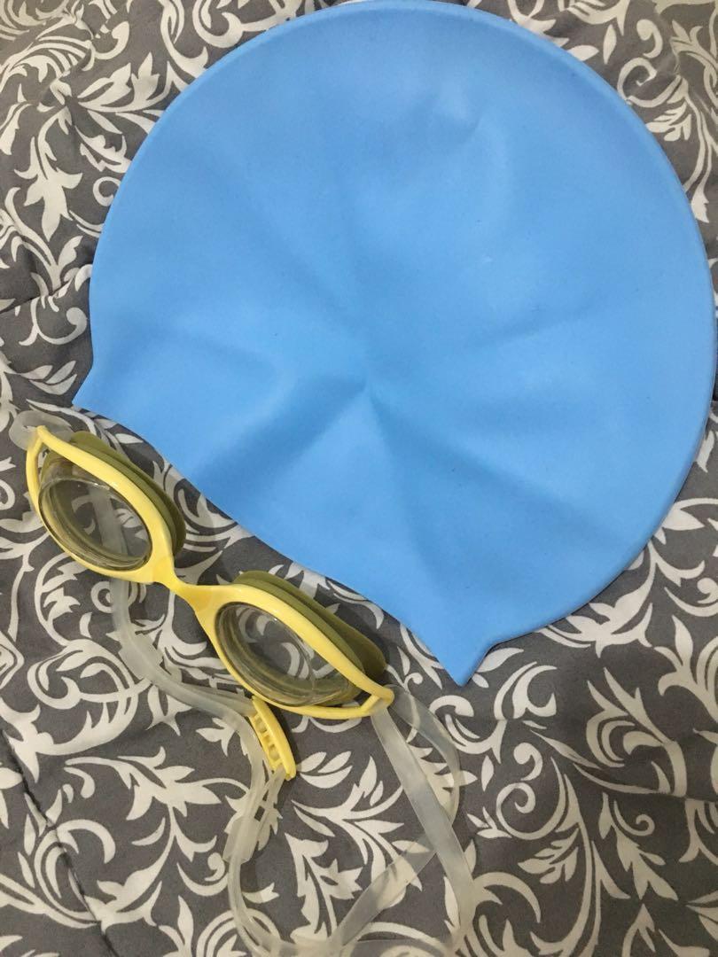 Kacamata Renang Miniso Dan Penutup Cuma Buka Kotak Saja Sports Cap Kepala Untuk 5 Other Equipment On Carousell