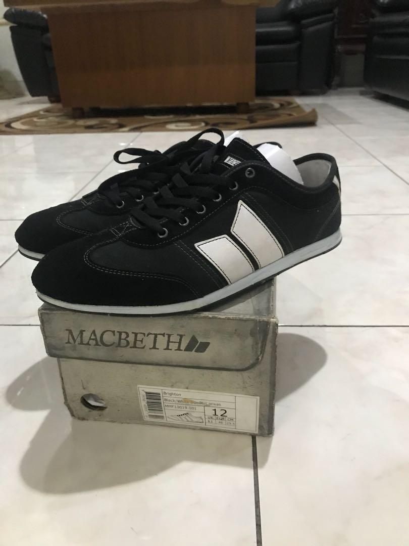 macbeth brighton black white size 12/46 like new rare