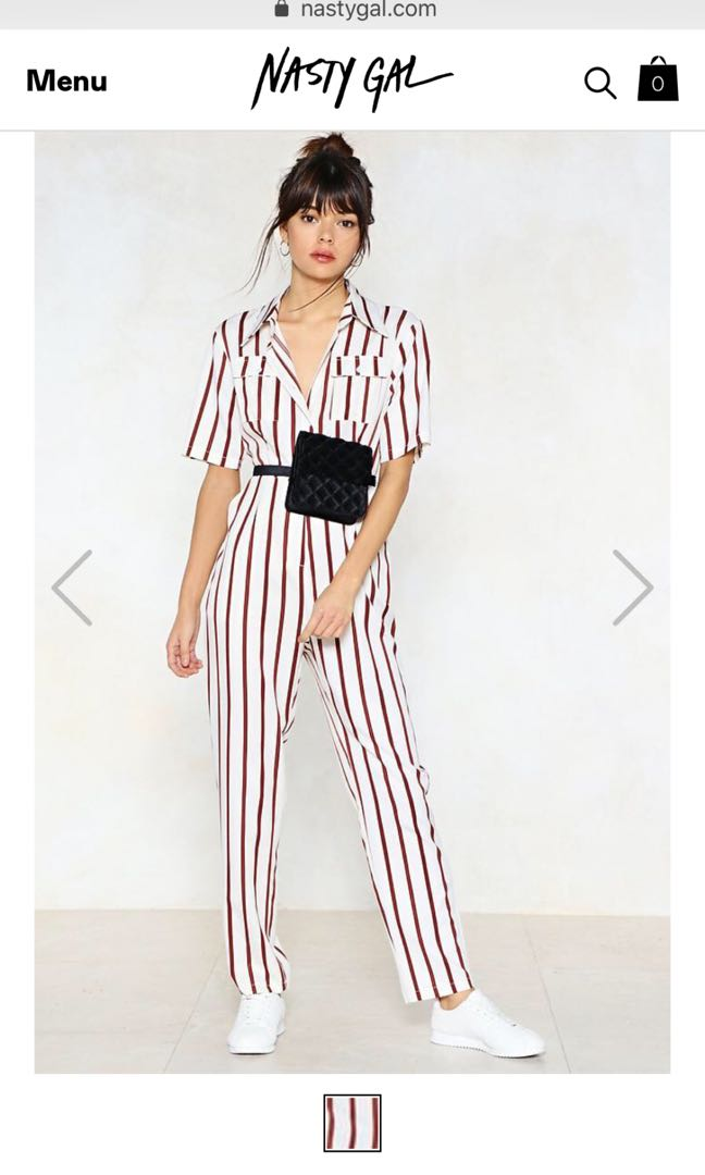 dad0768bff2a Nasty Gal Striped Jumpsuit