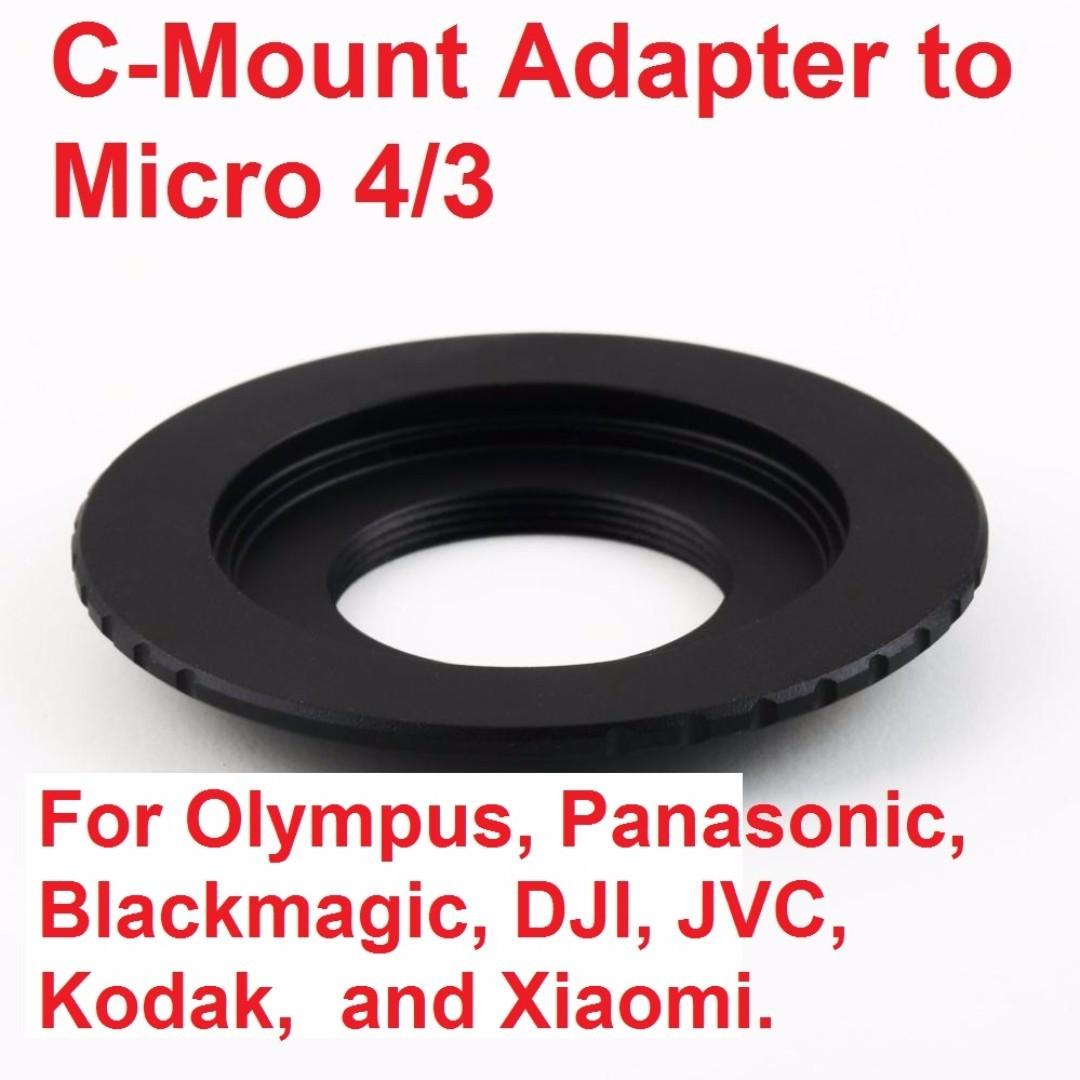 New arrival, ergonomic design, C-Mount Lens to Micro Four Thirds 4/3 M4/3  Adapter for Blackmagic, DJI, JVC, Kodak, Olympus, Panasonic, and Xiaomi