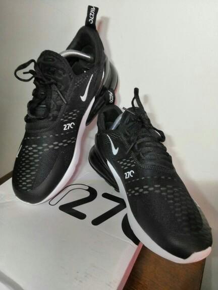 buy online ea04c 08f50 Nike Air Max 270 Black & Neon Orange