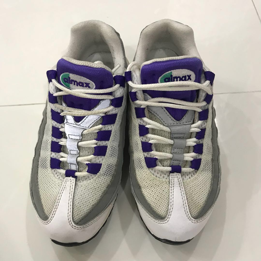 """8665d0bb7a Nike Air Max 95 OG """"Grape"""" purple chic, Women's Fashion, Shoes ..."""