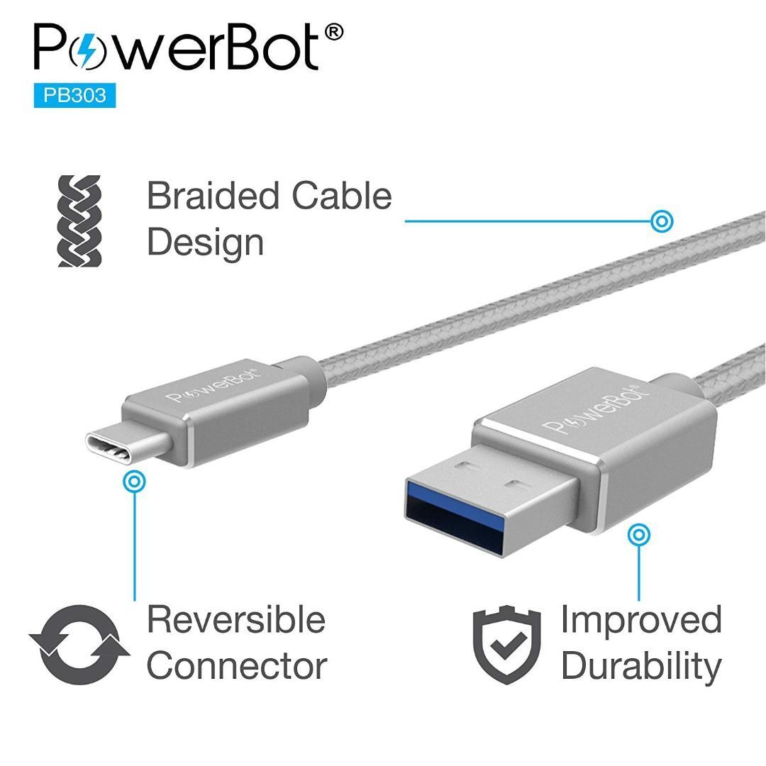 美國聲霸PowerBot PB303 USB 3.1 Type-C轉 USB 3.0 TYPE-A高速傳輸充電線