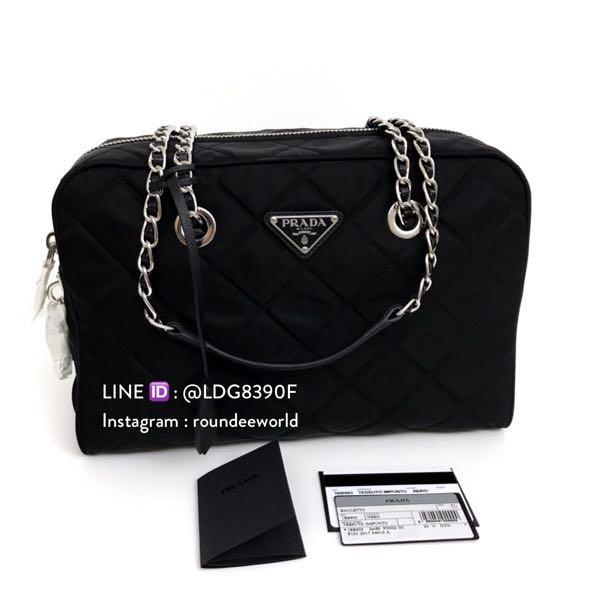 Prada Tessuto Impuntu Quilted Bag 1BB903 - Black 18534d6b7c626