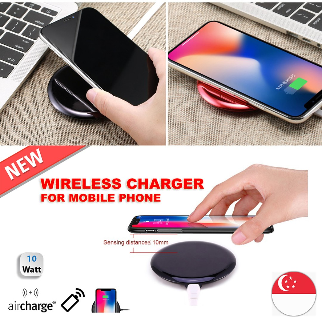 Remax RP-W11 Fast Wireless Charger, Mobile Phones & Tablets, Mobile & Tablet Accessories, Power Banks & Chargers on Carousell