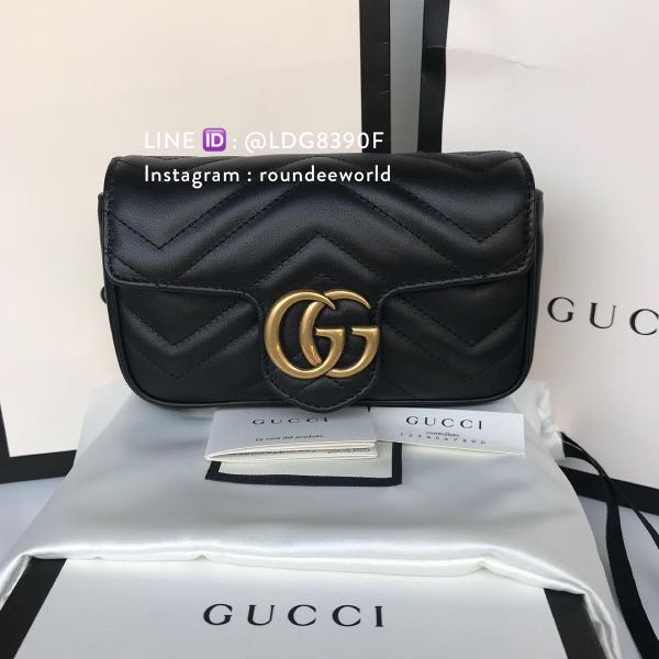 3af018b5569821 Gucci GG Marmont Matelasse Super Mini Bag - Black, Luxury, Bags & Wallets,  Sling Bags on Carousell
