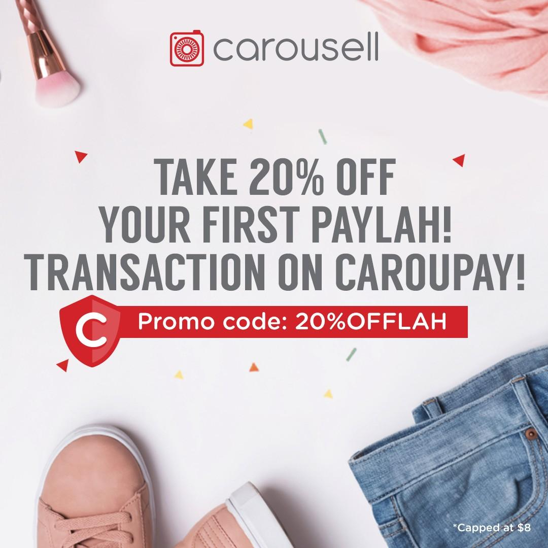 Take 20%* off your first PayLah! transaction on CarouPay!