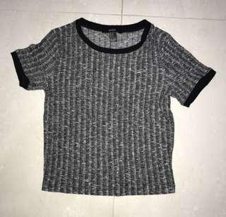 Forever 21 grey marled crop top