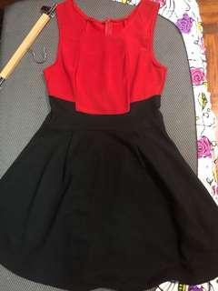 MDS Red & Black Dress