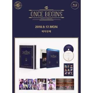 [INC EMS] TWICE FANMEETING ONCE BEGINS BLU-RAY