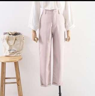 High waist straight pants
