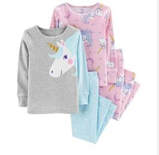 🚚 Carter's 4-pieces unicorn PJs