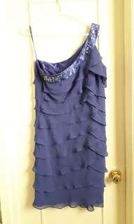 Purple one strap dress