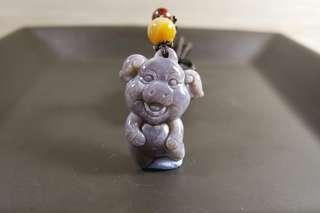🚚 珊瑚玉 小紫豬 吊墜 小朋友 豬寶寶