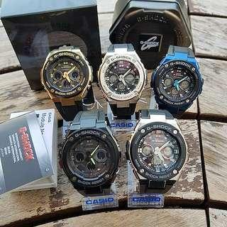 100% Authentic Casio Gshock Medium Size Gsteel Tough Solar 300 Series GSTS300 with FREE DELIVERY 📦 G-Shock