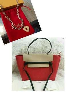 AUTHENTIC QUALITY CELINE BELT BAG WITH FREE AUTH QUALITY CARTIER NECKLACE