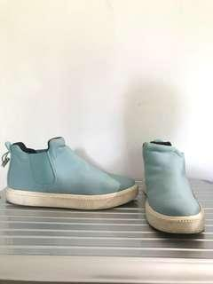 Teal Zara Slip On Runners