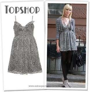 😘DAY-TO-NIGHT CHIC - Topshop Ruffled Bodice Strappy Plunge BABYDOLL Dress - WORN ONCE