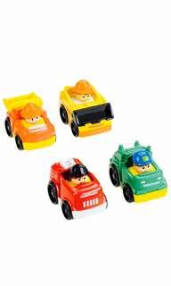 ~Ready Stocked~ Fisher-Price Little People Wheelies All About Working cars vehicles