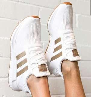 ee673f145 Limited Edition Adidas Swift Run in Copper Metallic   White