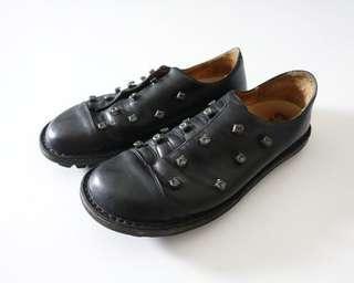 德國手工品牌trippen 黑色真皮休閒鞋#40