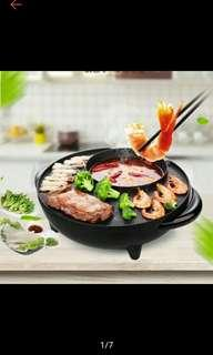 2 in 1 BBQ Grill and Steamboat Hot Pot Shabu Roast Fry Pan