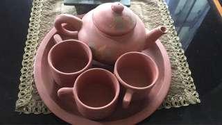 Tea set tanah liat