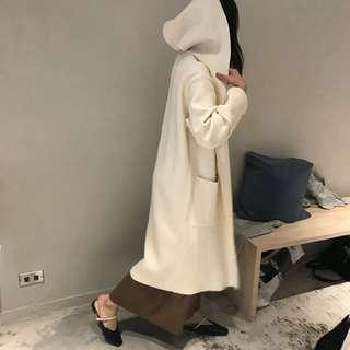 🚚 徵物 studio doe 米白色 連帽針織外套