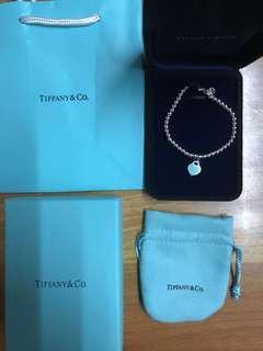 Tiffany blue 手鍊 手鏈 頸鏈 Tiffany&Co 💯 真 全新  M/L size