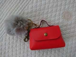 Bavin Mini Bag with Fur Ball Keychain