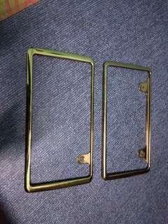 frame plate gold