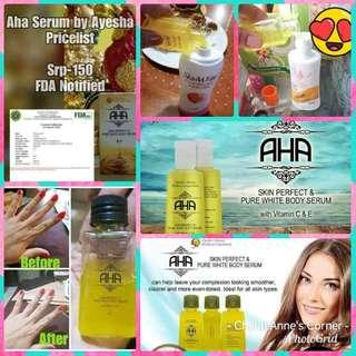 AHA SERUM / SOAP WHITENING BOOSTER