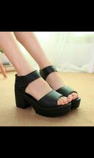 PREORDER stylenanda Chunky platform sandals Heels* waiting time 15 days after payment is made *pm to order