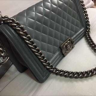 Authentic Chanel boy bag