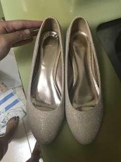 DMK white / cream Color glitter Low heels