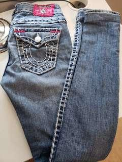 True religion low rise Jean sz 24